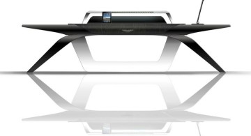 futuristic and sleek office desk