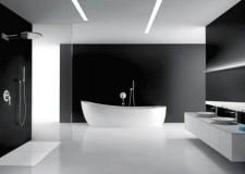 futuristic black bathrooms ideas