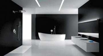 futuristic black bathrooms ideas