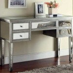futuristic mirrored table small entry table ideas