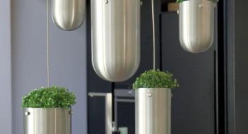futuristic silver bullets hanging flower vase