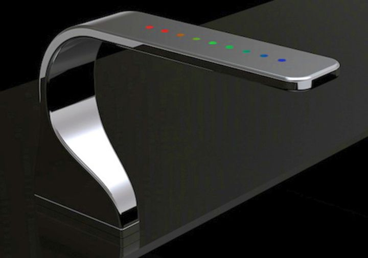 futuristic unique kitchen faucets with dials on top