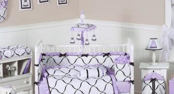 geometric pattern cute baby girl bedding ideas