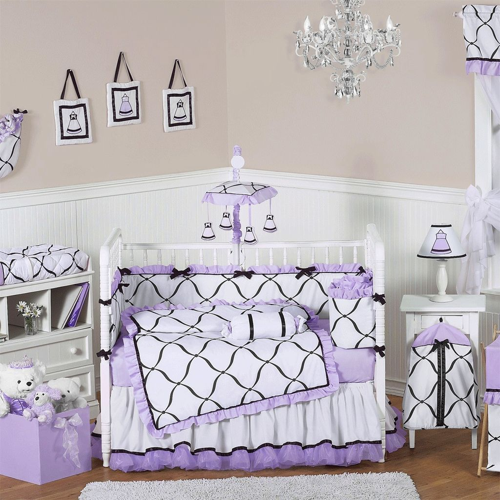20 cute baby girl bedding ideas for your little angel. Black Bedroom Furniture Sets. Home Design Ideas