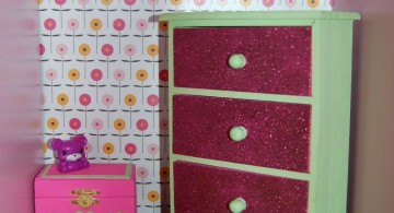 girly contact paper furniture