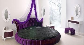 glamor purple circular bed