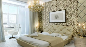 glamorous bedroom wall panel design ideas
