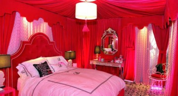 glamorous in pink and red cute girls bedroom ideas