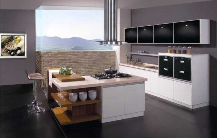 So, What Do You Think About Glossy Black And White Modular Kitchen Designs  Above? Itu0027s Amazing, Right? Just So You Know, That Photo Is Only One Of 19  ...