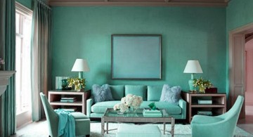 gorgeous turquoise living room