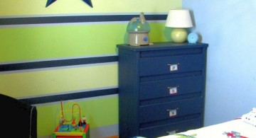 green and blue stripes boys room paint ideas