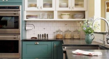 green cabinet popular paint colors for kitchen