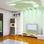 green cubes ceiling design ideas for living room