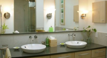 green themed master bathroom lighting ideas