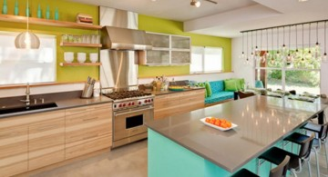 green with bright blue popular paint colors for kitchen