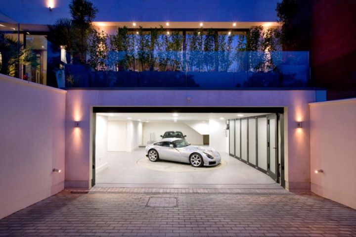 half basement modern garage designs and inspiration
