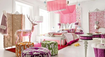 half canopy and deer teenage girl curtain designs