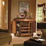 half moon contemporary wine cabinet