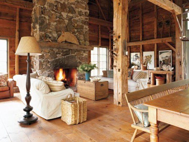 half outdoorsy rustic living room ideas