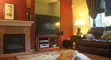 hang out room ideas with large plasma TV