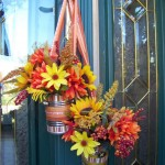 hanging flower vase for door decoration