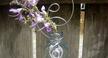 hanging flower vase with intricate details
