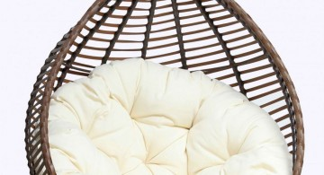 hanging plush modern papasan chair
