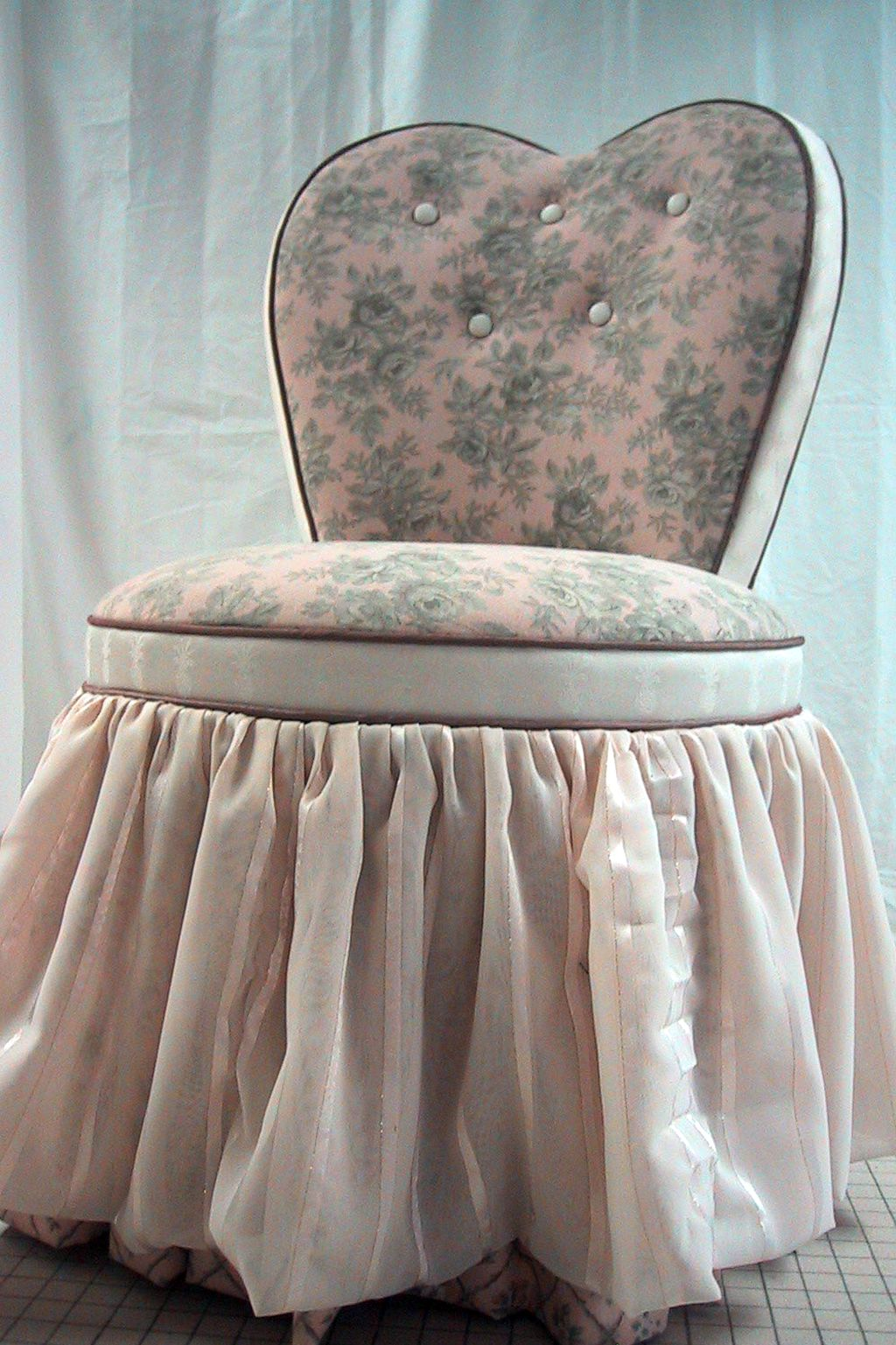 Vanity Chair With Skirt