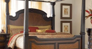 heavy canopied bed tuscan style bedroom furniture