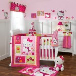 hello kitty themed cute baby girl bedding ideas