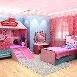 hello kity girls bedroom designs with unique beds