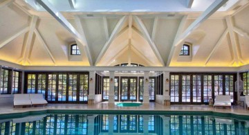 high ceiling indoor swimming pool designs