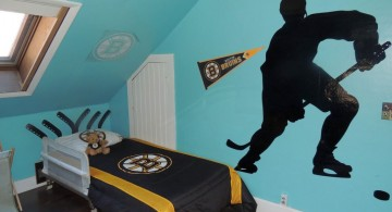 hockey bedrooms with wall decals