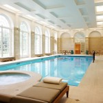 indoor swimming pool designs with jacuzzi and sidepool bed