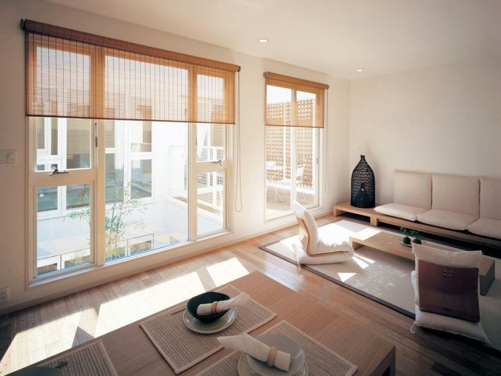 JapaneseInspired Living Room Designs -  japanese living room furniture
