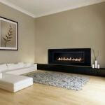 japanese inspired living room in monochrome