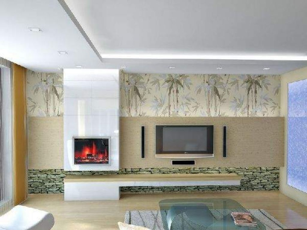 Japanese Inspired Living Room With Bamboo Wallpaper