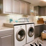 khaki colored small laundry room designs