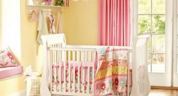 khaki walled pink baby room ideas