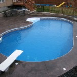 kidney shaped swimming pools with flat bed