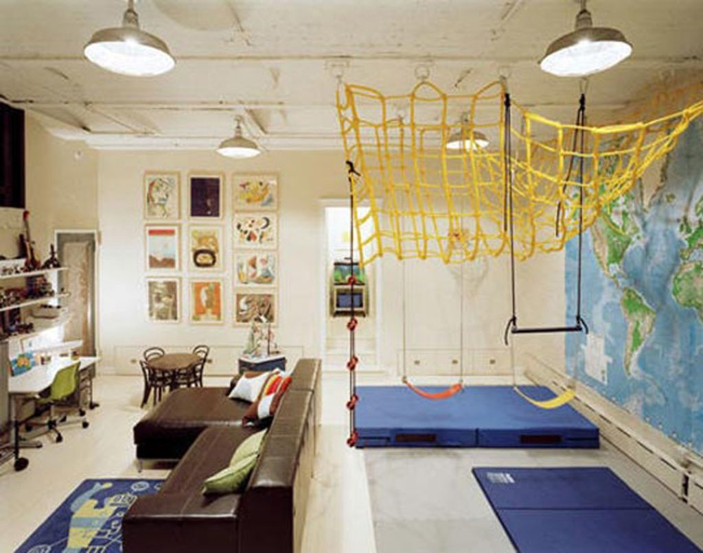 Living Room With Kids Play Area