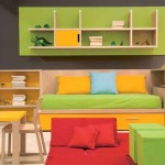 kids playroom design ideas in green and yellow with smart storages