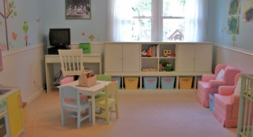 kids playroom design ideas in pastel colors