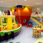 kids playroom design ideas with big and small boats