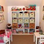 kids playroom design ideas with smart shelving for small space
