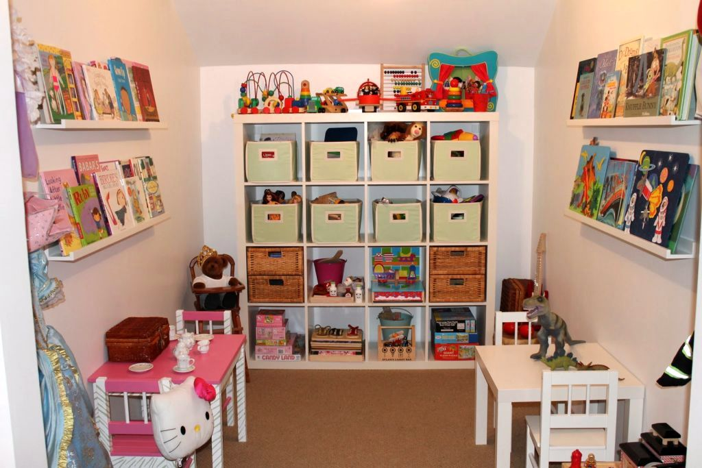 Kids playroom design ideas with smart shelving for small space - Small space playroom ideas ...