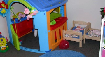 kids playroom design ideas with toy house
