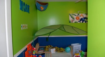 kids rooms paint ideas in green and blue