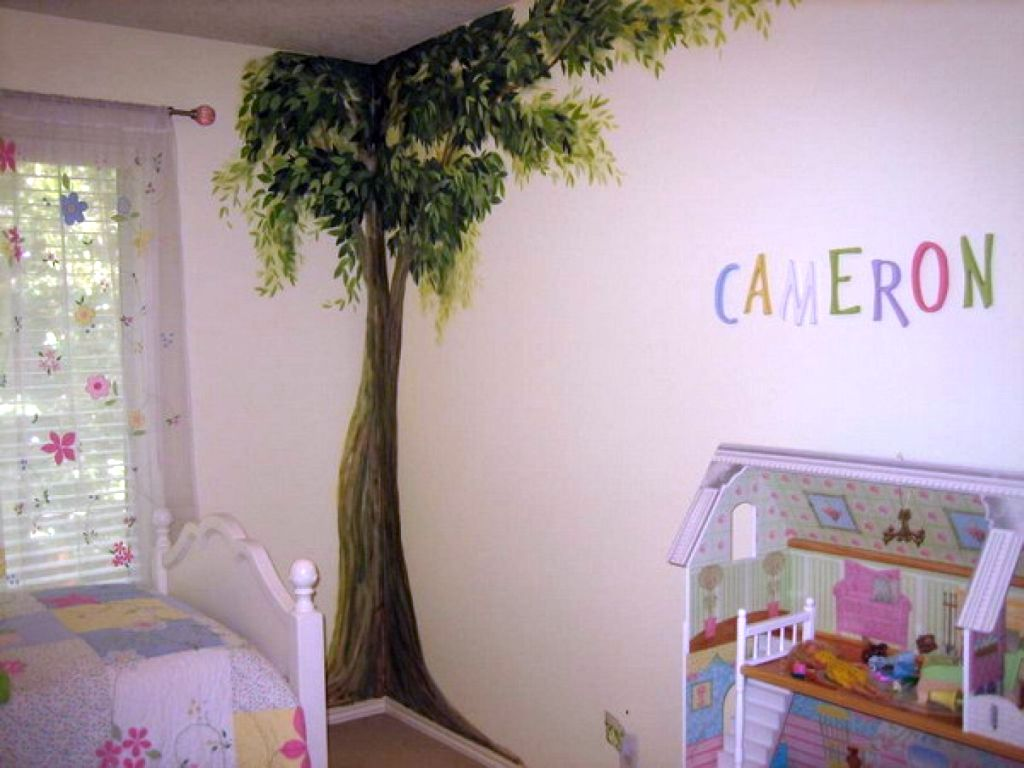 Kids rooms paint ideas with decal for Kids room painting ideas