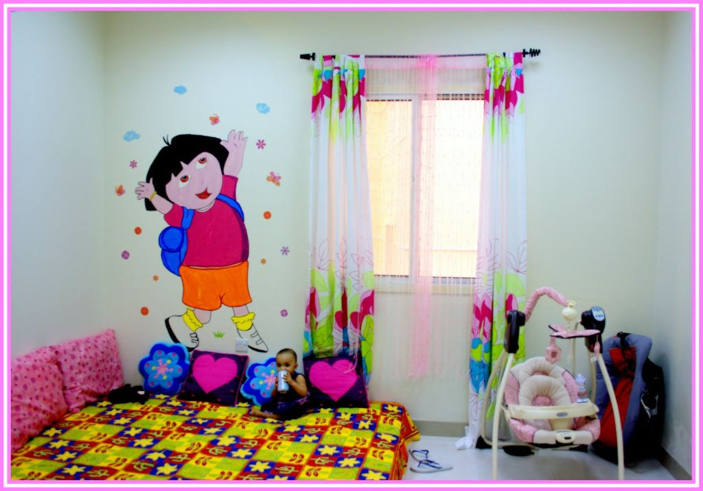 Kids rooms paint ideas with wall decal Kids room wall painting design